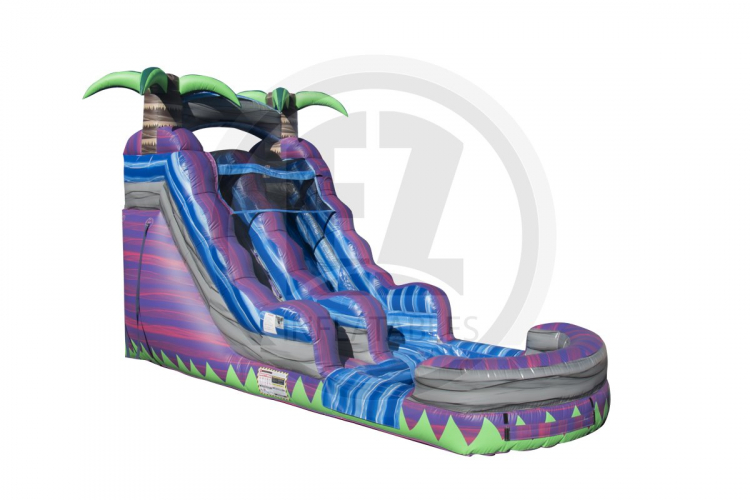 15' Purple Crush Water Slide with Splash Down Pool