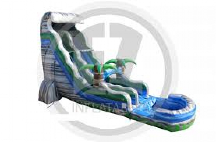 19' Tall Tsunami Crush Water Slide with Splash Down Pool